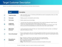Target Customer Description Story Ppt Powerpoint Presentation Inspiration Graphics