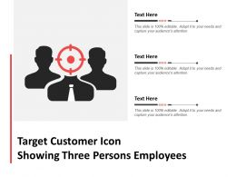 Target Customer Icon Showing Three Persons Employees