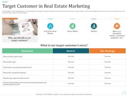 Target Customer In Real Estate Marketing Marketing Plan For Real Estate Project