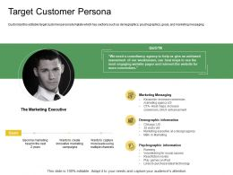 Target Customer Persona Ppt Powerpoint Presentation Summary Graphics Template