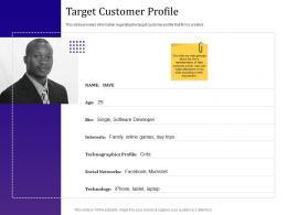 Target Customer Profile Empowered Customer Engagement Ppt Powerpoint Presentation Model Ideas