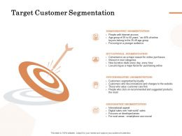 Target Customer Segmentation Ppt Powerpoint Presentation Slides Design Inspiration