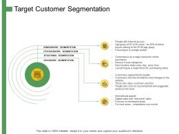 Target Customer Segmentation Ppt Powerpoint Presentation Summary Graphics Pictures