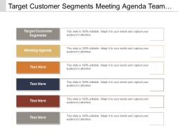 Target Customer Segments Meeting Agenda Team Management Lead Generation