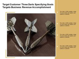 Target Customer Three Darts Specifying Goals Targets Business Revenue Accomplishment