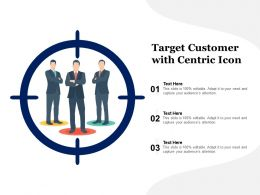 Target Customer With Centric Icon