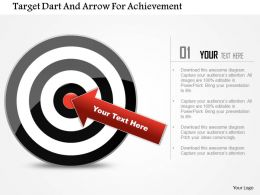 Target Dart And Arrow For Achievement Powerpoint Template