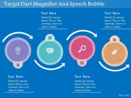 Target Dart Magnifier And Speech Bubble Flat Powerpoint Design