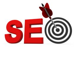 Target Dartboard With Arrow Displaying Targets Within Word Seo Stock Photo