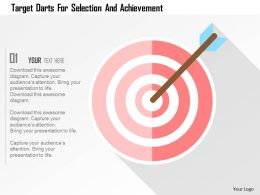 Target Darts For Selection And Achievement Flat Powerpoint Design