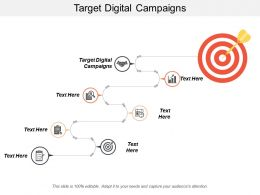 Target Digital Campaigns Ppt Powerpoint Presentation Gallery Clipart Images Cpb