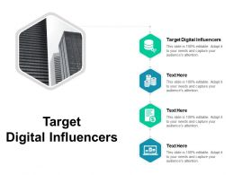 Target Digital Influencers Ppt Powerpoint Presentation Outline Aids Cpb