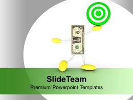 Target Dollar Business Concept Powerpoint Templates Ppt Themes And Graphics 0113