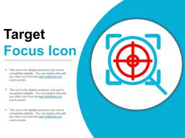 Target Focus Icon Ppt Infographics