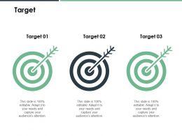 Target Goal B155 Ppt Powerpoint Presentation File Information