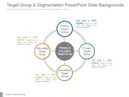 Target Group And Segmentation Powerpoint Slide Backgrounds
