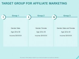 Target Group For Affiliate Marketing Ppt Powerpoint Presentation Professional