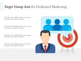 Target Group Icon For Dedicated Marketing