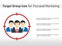 Target Group Icon For Focused Marketing