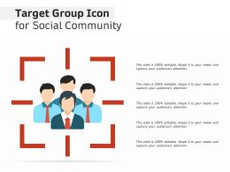 Target Group Icon For Social Community