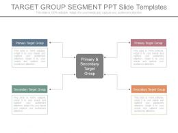 Target Group Segment Ppt Slide Templates