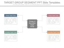 Target Group Segment Ppt Slide Templates