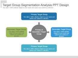 Target Group Segmentation Analysis Ppt Design