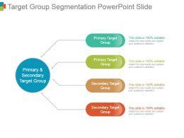 Target Group Segmentation Powerpoint Slide