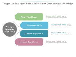 Target Group Segmentation Powerpoint Slide Background Image