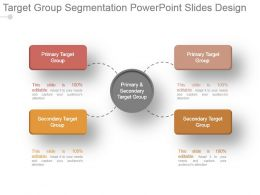 Target Group Segmentation Powerpoint Slides Design