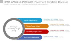 Target Group Segmentation Powerpoint Templates Download