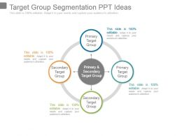 Target Group Segmentation Ppt Ideas