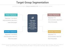 Target Group Segmentation Ppt Slides
