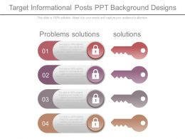 Target Informational Posts Ppt Background Designs