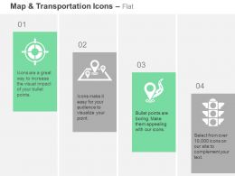 Target Location Travel Destination Path Traffic Light Ppt Icons Graphics