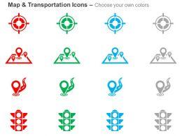 target_location_travel_destination_path_traffic_light_ppt_icons_graphics_Slide02