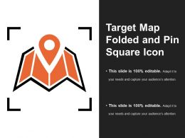 Target Map Folded And Pin Square Icon