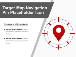 Target Map Navigation Pin Placeholder Icon