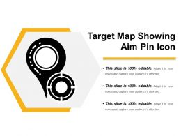Target Map Showing Aim Pin Icon
