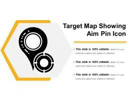 Target Map Showing Aim Pin Icon