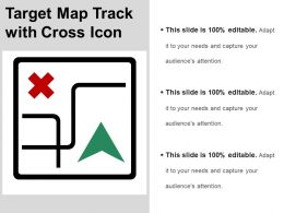Target Map Track With Cross Icon