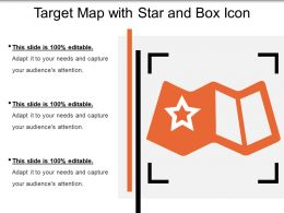 Target Map With Star And Box Icon