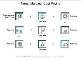 Target Marginal Cost Pricing Ppt Powerpoint Presentation Inspiration Objects Cpb