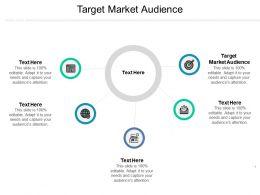 Target Market Audience Ppt Powerpoint Presentation Ideas Slide Portrait Cpb