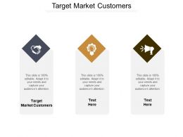 Target Market Customers Ppt Powerpoint Presentation Ideas Professional Cpb