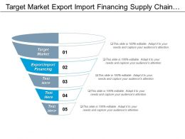 Target Market Export Import Financing Supply Chain Management Cpb