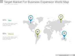 Target Market For Business Expansion World Map Ppt Slide