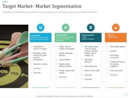 Target Market Market Segmentation Marketing Plan For Real Estate Project