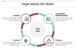 Target Market Mix Model Ppt Powerpoint Presentation Show Mockup Cpb
