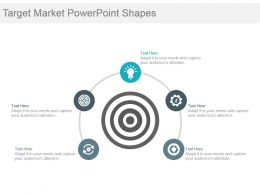 Target Market Powerpoint Shapes